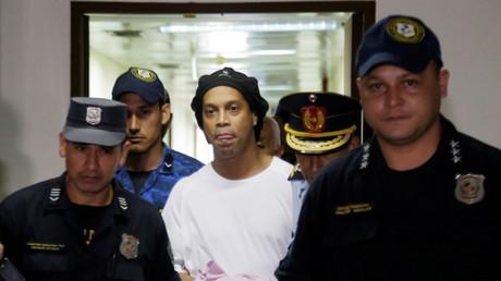 Ronaldinho während eines Gerichtstermins am 7. März 2020 am Obersten Gerichtshof Paraguays, Asunción, Paraguay.