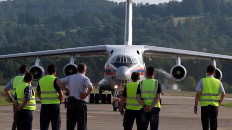 Eine russische Ilyushin 76 brachte bereits nach den schweren Überflutungen im Jahr 2014 Hilfe nach Banja Luka.