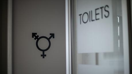 Erste genderneutrale Toilette im Queer Wellness Center in Johannesburg, Südafrika (Bild vom 11. März)