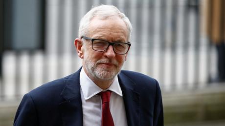 Der ehemalige Vorsitzende der britischen Labour-Partei, Jeremy Corbyn, am 9. März 2020 in der Westminster Abbey in London, Großbritannien.