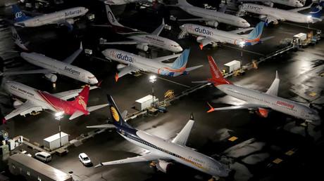 Flugzeuge vom Typ Boeing 737 MAX auf dem Boeing Field in Seattle