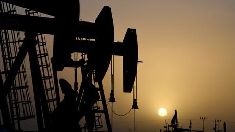 Ölfeld in Midland, US-Bundesstaat Texas