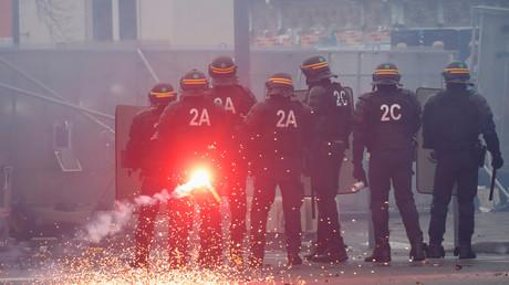 Symbolbild: Französische Bereitschaftspolizei in Paris, 28. Januar 2020