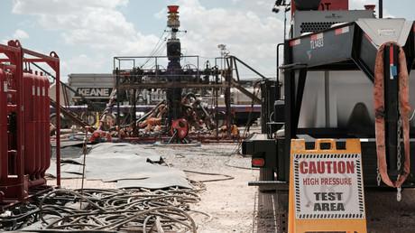 Symbolbild: Fracking-Standort des Chevron-Konzerns in der Nähe von Midland, Texas.