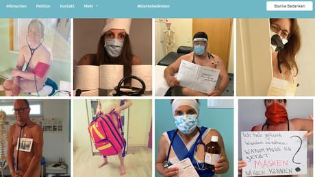 Hausärzte machen mit Nacktprotest auf Materialmangel aufmerksam