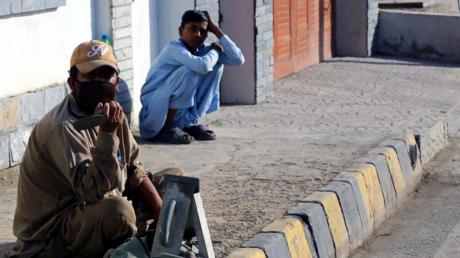 Arbeitslose im pakistanischen Karatschi im April 2020