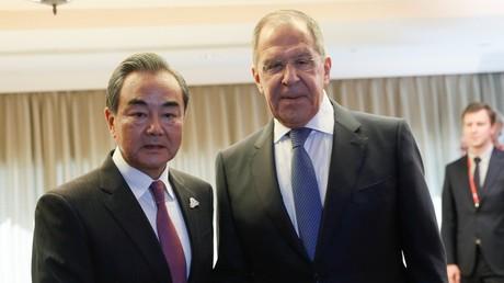 Archivbild. Die Außenminister Chinas und Russlands, Wang Yi und Sergei Lawrow.