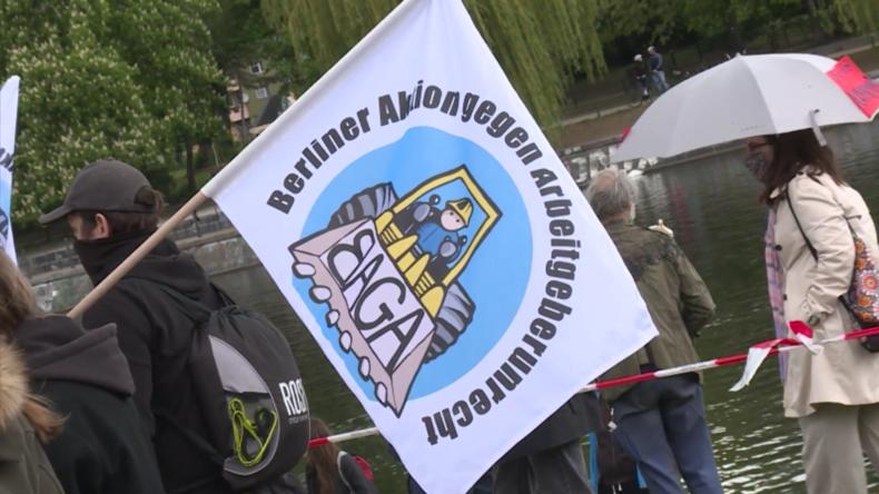 Berlin: Demonstranten fordern inmitten der Corona-Krise mehr Rechte für Gesundheitsarbeiter