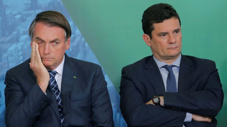 """Vom Mitstreiter zum """"Judas"""": Jair Bolsonaro beschimpft ehemaligen Justizminister Sérgio Moro"""