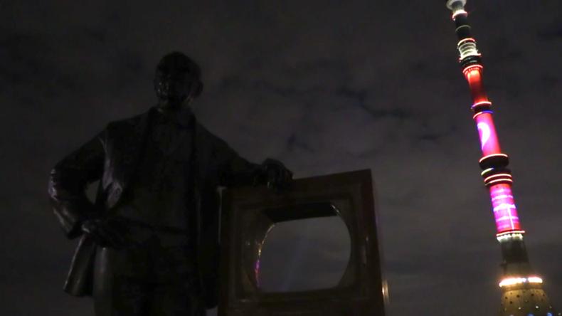 Russland: Fernsehturm Ostankino in Moskau beteiligt sich an der #HeroesShineBright-Kampagne