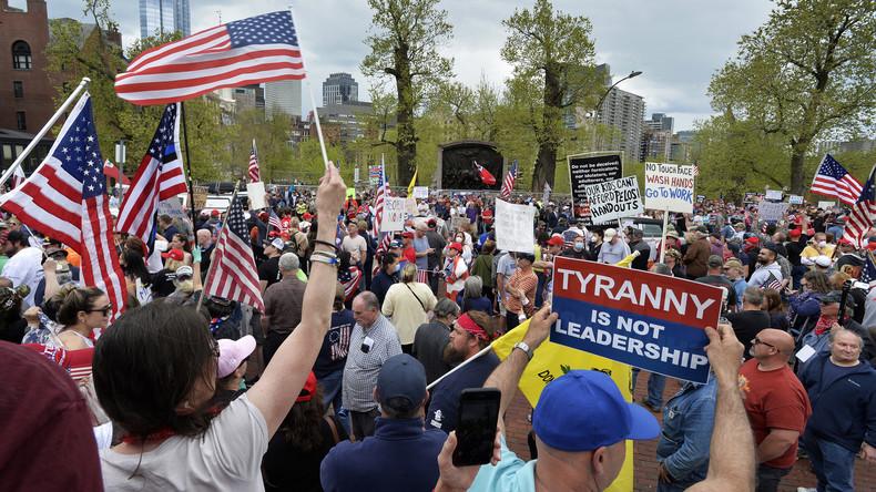 """""""Das ist Tyrannei!"""": Proteste gegen Lockdown in Boston"""