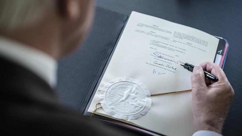 Bitte Gürtel enger schnallen! - Bundespräsident Steinmeier stimmt Deutsche auf Entbehrungen ein