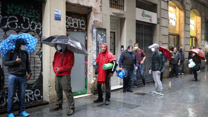 Corona-Krise in Spanien: Rekordzahl von Menschen beantragt Sozialleistungen