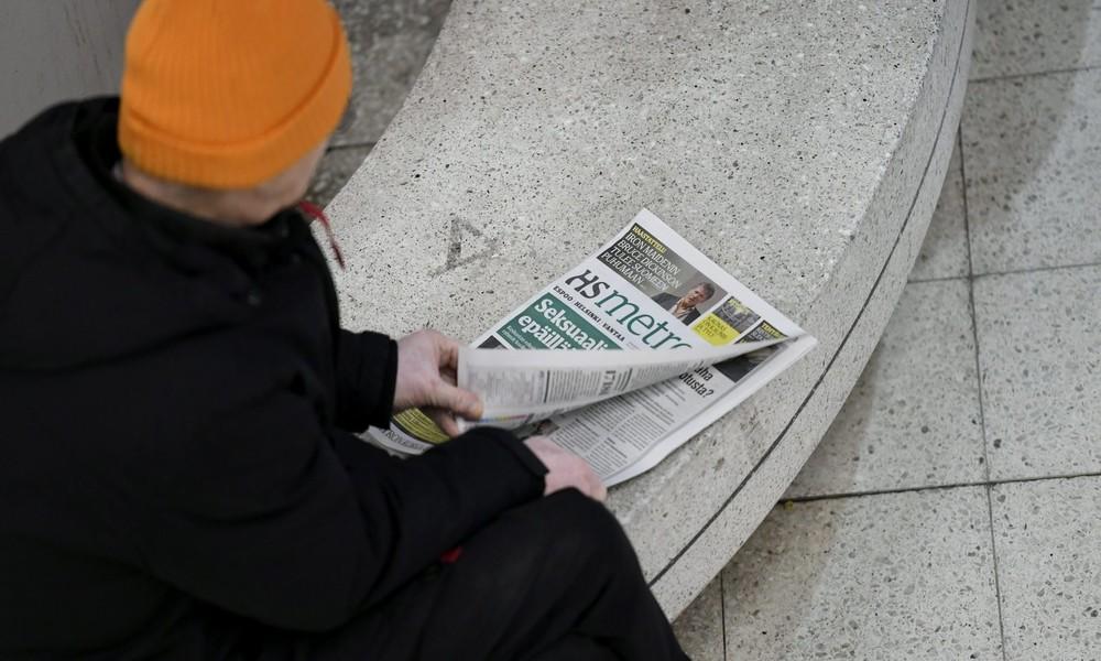 Abstand ist wichtig: Finnische Zeitung mahnt mit optischer Täuschung soziale Distanz an