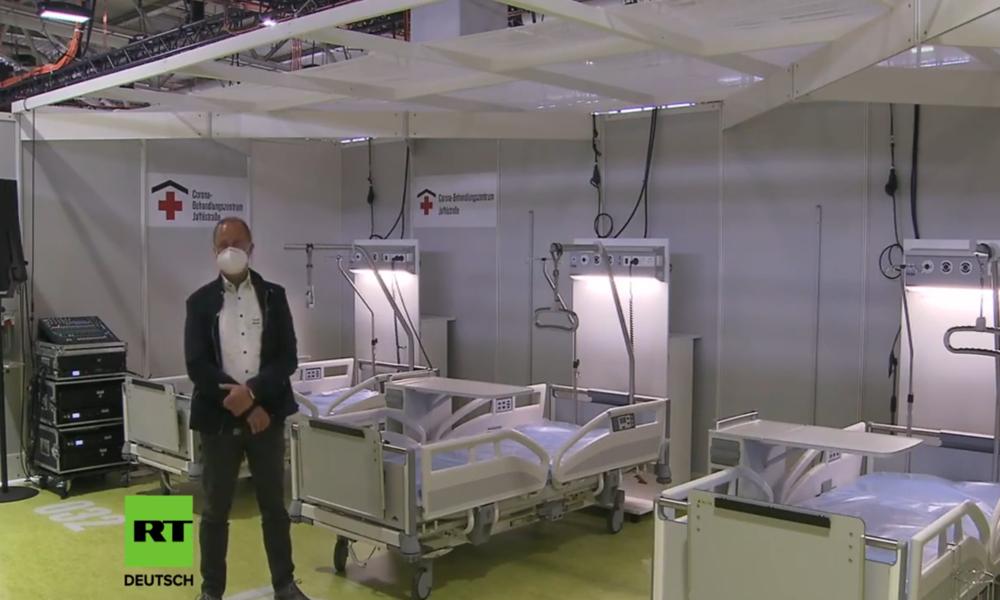 LIVE: Bundespräsident Steinmeier besichtigt das temporäre Corona-Krankenhaus in Berlin