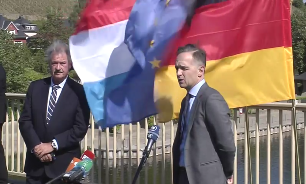 Deutschland/Luxemburg: Außenminister eröffnen die Grenzen nach der Abriegelung wegen COVID-19