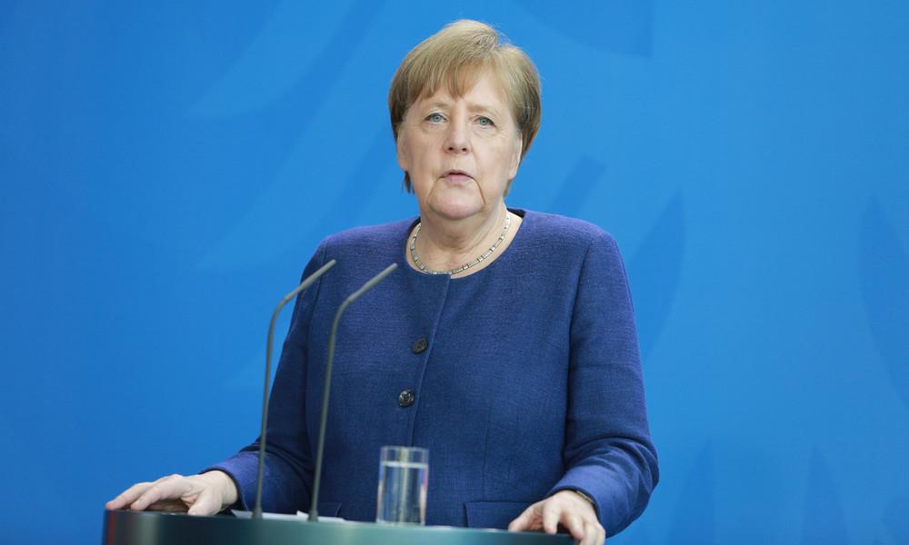 LIVE: Pressekonferenz von Merkel nach Konsultation mit internationalen Wirtschaftsorganisationen