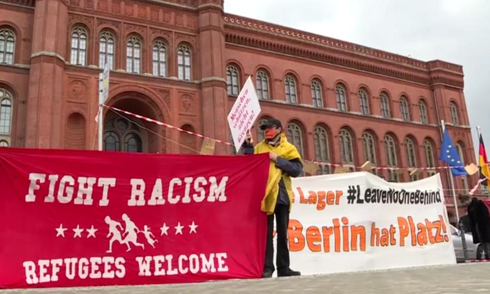 Berlin: Aktivisten fordern Aufnahme von Flüchtlingen aus griechischen Lagern