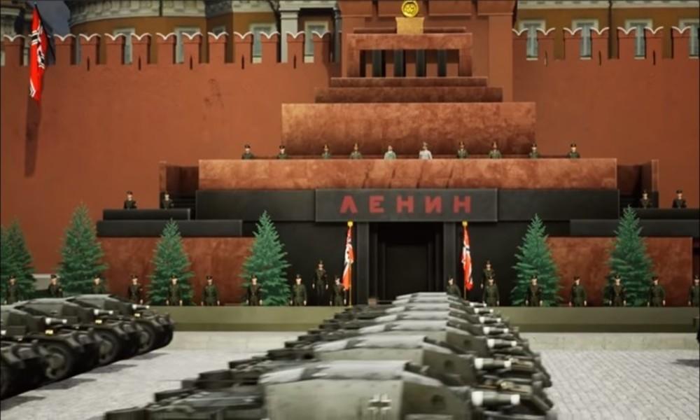 """""""Europa in die Knie zwingen"""": Ukrainisches Computerspiel zeigt Siegesparade der Nazis in Moskau"""