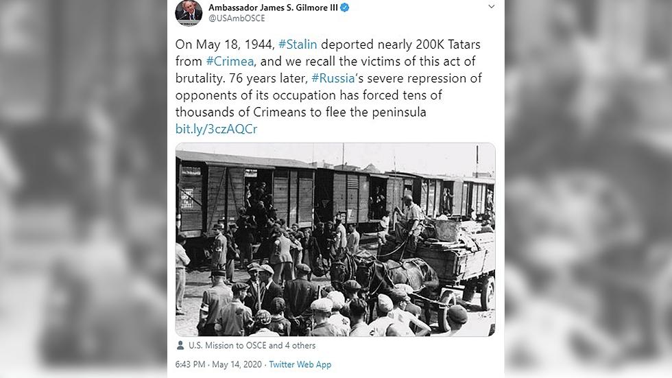 US-Diplomat verurteilt Deportation von Krimtataren in UdSSR mit Archivbild aus Juden-Ghetto in Polen