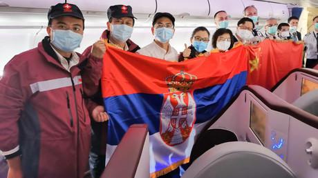 Archivbild. Die Mitglieder eines chinesischen Medizinerteams, das in Serbien stationiert war.