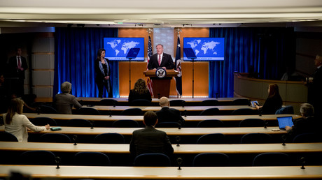 US-Außenminister Mike Pompeo bei der Pressekonferenz am 29. April.