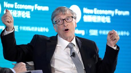 Bill Gates auf dem New Economy Forum in Peking im vergangenen Jahr. (21. November 2019)