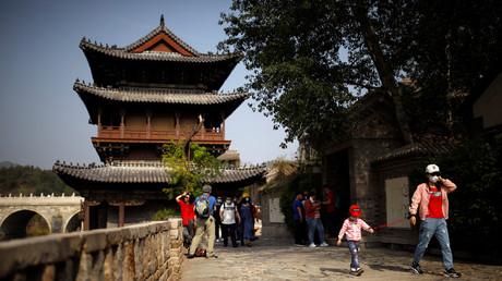 Gubei Water Town am ersten Tag des fünftägigen Feiertags zum Tag der Arbeit, China.