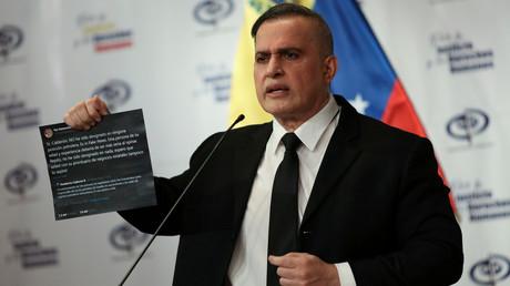 Venezuelas Chefankläger Tarek William Saab während einer Pressekonferenz