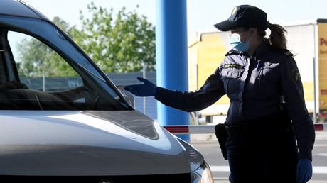 Kroatien öffnete als erstes EU-Land am 10. Mai wieder seine Grenzen für alle Reisenden, wie hier am Grenzübergang Bregana.