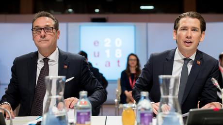 Archivbild: Ex-Vizekanzler Heinz-Christian Strache und Bundeskanzler Sebastian Kurz am 06.07.2018 in Wien