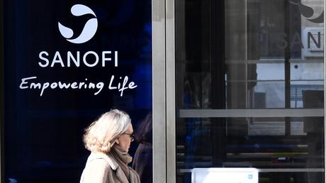 Der Hauptsitz des Unternehmens in Paris, Aufnahme vom 27. März 2020.