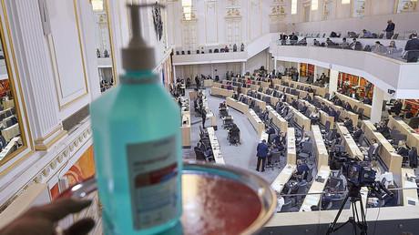 Der Nationalrat in Wien während einer Sondersitzung zur Corona-Krise (15. März 2020)
