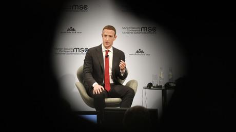Mark Zuckerberg auf der Münchener Sicherheitskonferenz 2020.