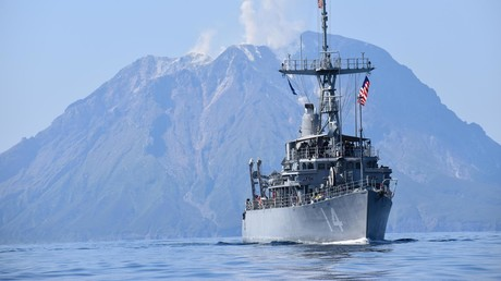 China ist eine Bedrohung – das verbreiten US-Denkfabriken, die ihr Geld vom US-Rüstungssektor beziehen. Bild: USS Chief (MCM 14) im Ostchinesischen Meer, April 2020