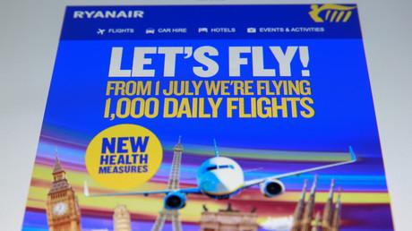 Online-Werbung der Fluggesellschaft Ryanair