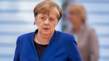 Im Gleichschritt? Merkel bei der Kabinettsitzung am Mittwoch vergangener Woche