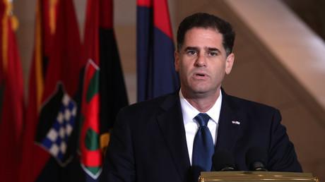 (Archivbild). Der Botschafter Israels in den USA, Ron Dermer, während einer Veranstaltung am 29. April 2019 in Washington, DC.