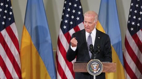 Mehrere Jahre war der Vize-Präsident Joe Biden der Ukraine-Beauftragte der Obama-Regierung. Auf dem Bild: bei einem seiner zahlreichen Auftritte in Kiew im Jahr 2014.
