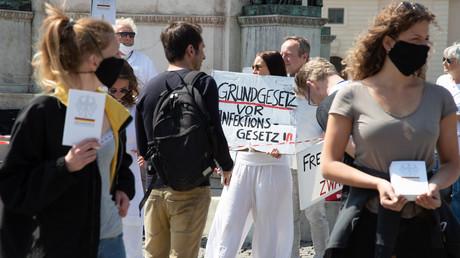 Demonstration in München am 25. April 2020