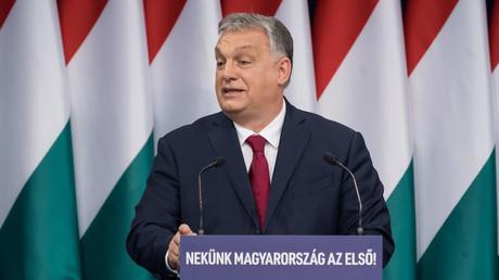 Viktor Orbán bei seiner jährlichen Rede zur Nation (Budapest. 16. Februar 2020)