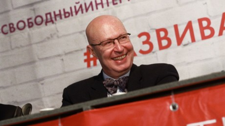 Waleri Solowei auf einer Wahlkampfveranstaltung, März 2018.