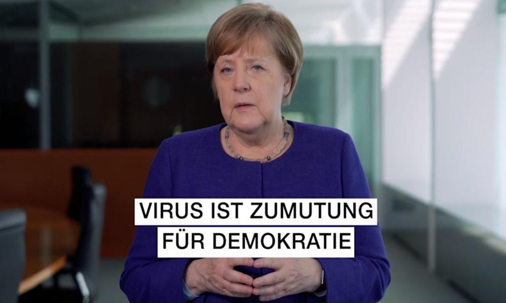 """""""Das Virus ist eine Zumutung für die Demokratie"""" – Merkels schiefe Einlassungen zum Verfassungstag"""