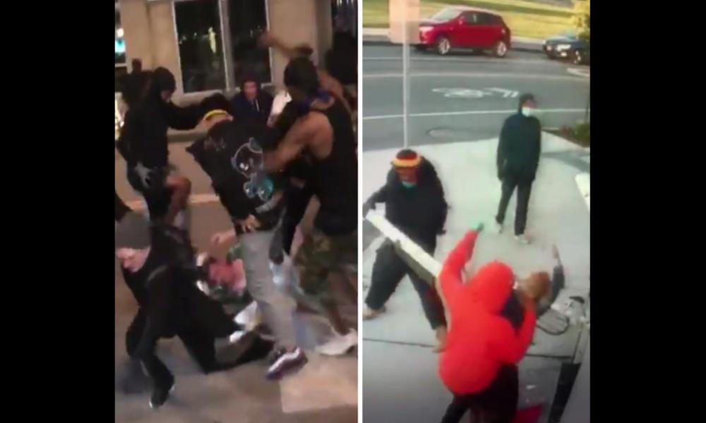Gewalttätige Plünderer in den USA: Ehepaar und Mann brutal verprügelt