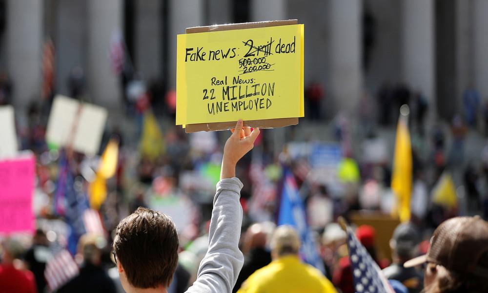 USA: Arbeitslosenquote könnte 20 Prozent erreichen – fast zwei Millionen weitere Anträge erwartet