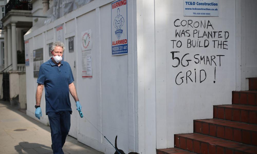 Rasierklingen und Nadeln in Sprengfallen: Protest gegen 5G in Großbritannien radikalisiert sich