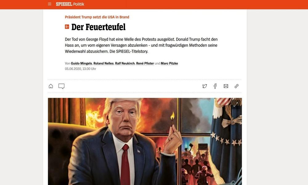 """Symptom statt Krankheit – Trump als Feuerteufel im """"Spiegel"""""""