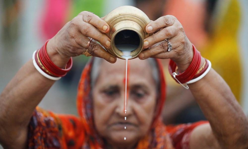 Coronavirus wird in Indien zu Gottheit: Gläubige wollen Krankheit mit Ritualen abwenden