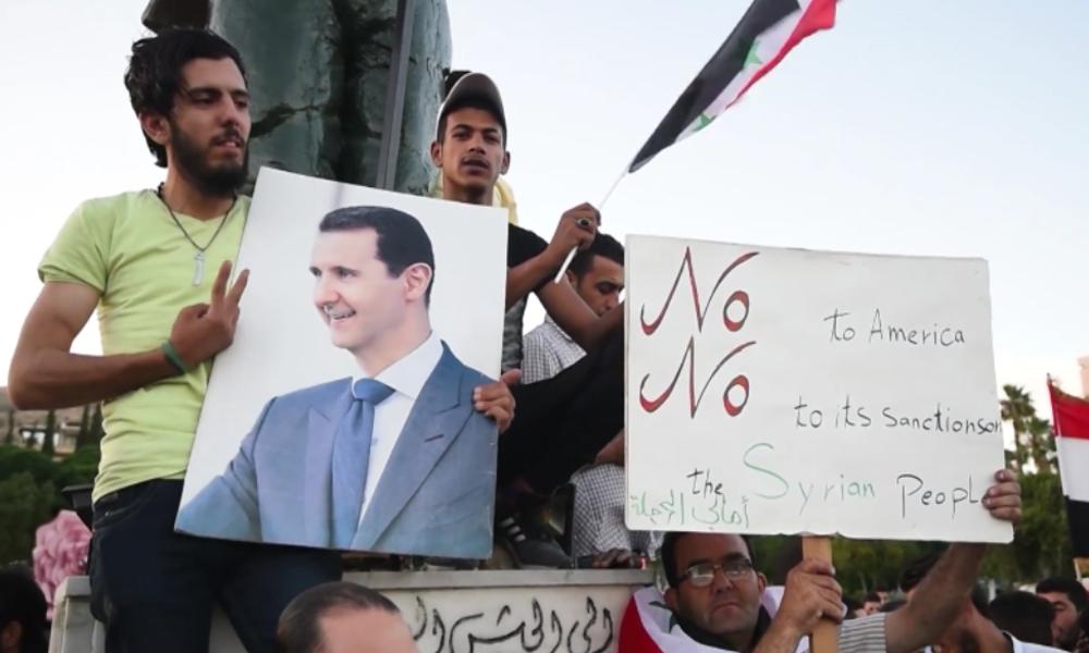 """Damaskus: Syrer protestieren gegen US-Sanktionen – """"Sie treffen die Zivilisten"""""""