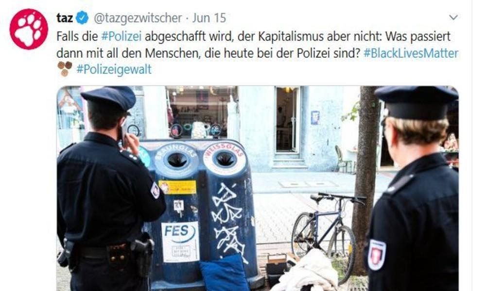 """""""Option Mülldeponie"""": taz-Kolumne beschimpft alle Polizisten als Abfall"""